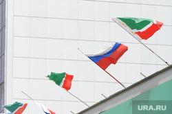 Чечня. Грозный , чечня, грозный, флаги россии чечни