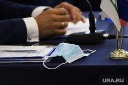Конференция ЕР. Курган. , маска, конференция единой россии, одноразовая маска, медицинская  маска