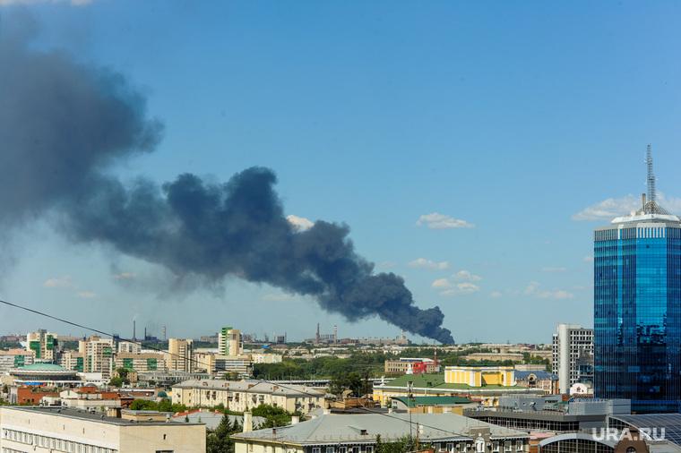Пожар на улице Валдайская. Челябинск