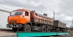 Разное. Курганская область, взвешивание большегрузов, камаз с прицепом, камаз с пшеницей