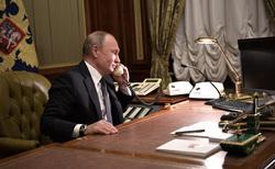Клипарт. Сток Сайт президента России, телефон, кабинет, разговор по телефону, путин владимир