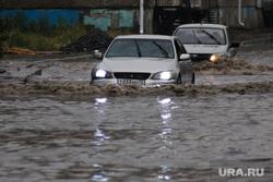 Затопленная улица Кирова. Курган, затопленная улица, ливень, потоп, дождь, последствие ливня