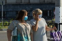 Клипарт. Магнитогорск, город, защитные маски, масочный режим, женщины в масках