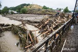 Последствия паводка в городе Нижние Серги. Свердловская область, потоп, наводнение, разрушения, непогода, паводок, подтопление, сель
