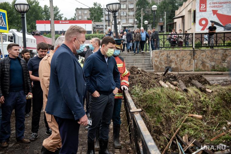 Нижние Серги после наводнения. Свердловская область
