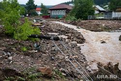 Последствия паводка в городе Нижние Серги. Свердловская область, паводок, наводнение, потоп, разрушения, сель