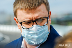 Открытие дорожной развязки по улице Братьев Кашириных. Челябинск, портрет, медицинская маска, текслер алексей