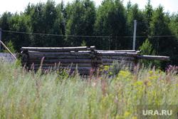 Заброшенный дачный участок бывшего руководителя Шуховского полигона. Курган, деревянный сруб