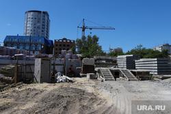 Строительные объекты. Курган, стройка, пересечение улиц климова кирова, строительная  площадка