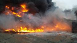 Крупный пожар завод на Эльмаше Екатеринбург