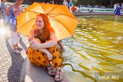 Жизнь Екатеринбурга в жару, вода, лето, жара, зонт, солнце