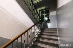 Жильцы дома по ул. Карла Либкнехта,40. Екатеринбург, подъезд, лестничная площадка