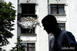 Здание ОДА. Луганск. Украина , разрушение, взрыв, последствия сражения