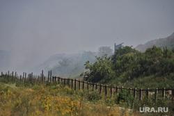 Шуховский полигон.  Курган , дым, задымление, шуховский полигон
