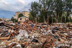 Снесенные дома в Нижневартовске. Нижневартовск, строительный мусор, снос дома