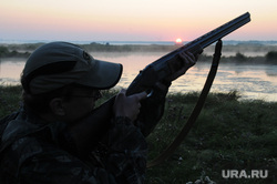 Военные охотники. Челябинск., охотник, ружье, вечер