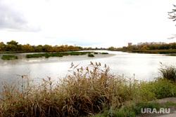 Набережная реки Тобол Курган, река тобол