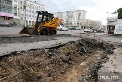 Ремонт дорог в рамках национального проекта. Курган, ремонт дороги, дорожная техника, раскопки