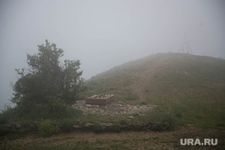 Клипарт. Коктебель, природа крыма, гора волошина, туман