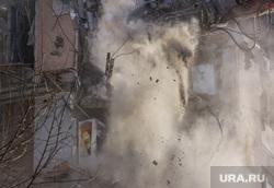 Демонтаж 7-го подъезда дома № 164 на проспекте Карла Маркса. Часть 2. Магнитогорск, пыль, обрушение, обломки