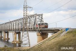 Клипарты. Сургут , поезд, мост, железная дорога