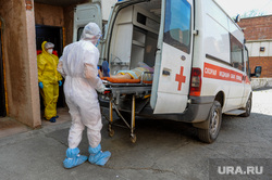 Инфекционная больница, куда доставляют больных коронавирусной инфекцией. Челябинск, больной, заражение, спецодежда, эпидемия, медицина, врачи, скорая помощь, инфекция, защитная одежда, врач, скорая помошь, медики, пациент, пандемия коронавируса, инфекционная больница, противочумной костюм