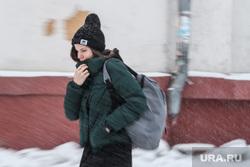 Виды Екатеринбурга, зима, снегопад