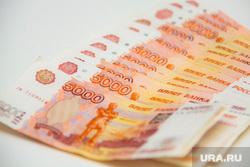 Клипарт. Пермь , купюры, пять тысяч, рубли
