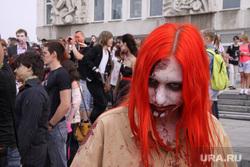 Парад зомби, шествие. Екатеринбург, грим, карнавал, зомби, треш, трэш