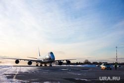 Прибытие рейса из Амстердама в Кольцово с цветами на борту. Екатеринбург, кольцово
