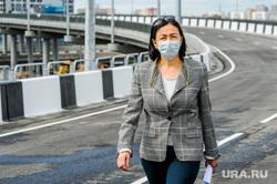 Открытие дорожной развязки по улице Братьев Кашириных. Челябинск, котова наталья, медицинская маска