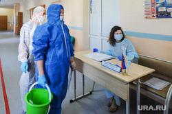 Избирательный участок. Челябинск, дезинфекция на избирательном участке