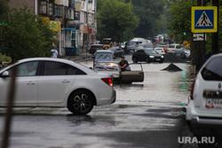 Затопленная улица Кирова. Курган, затопленная улица, ливень, потоп, улица кирова, дождь, последствие ливня