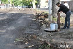Проблемы дорожных работ Курган, колонка, питьевая вода