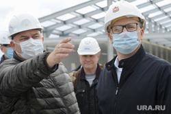 Алексей Текслер на строительстве областной инфекционной больницы. Челябинск , текслер алексей