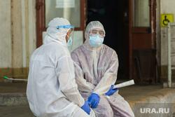 Клипарт. Магнитогорск, защитный костюм, медики, фельдшеры, коронавирус
