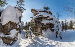 Природа Пермского края. Пермь, зима, северный урал, каменный город