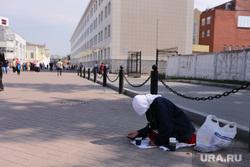 Обзорная экскурсия по Екатеринбургу, милостыня, нищенка, попрошайка, северный жд вокзал