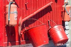 Клипарт. Магнитогорск, лопата, пожарный щит, огнетушитель, ведра пустые