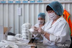 Респираторный цех на производственном предприятии «Уралспецзащита». Свердловская область, Полевской, защита, респиратор, респираторная маска, маска на лицо, производство, covid19, коронавирус, респираторный цех, изготовление респираторов