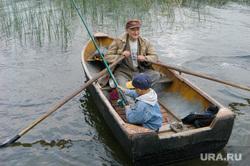 Военные охотники. Челябинск., лодка, дед, рыбаки, внук