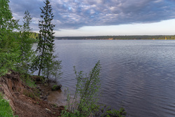 Природа Пермского края. Пермь, река, берег, кама