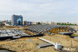 Открытие дорожной развязки по улице Братьев Кашириных. Челябинск, конгресс-холл около цирка
