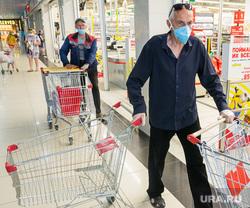 Клипарт. Магнитогорск, продуктовая корзина, защитная маска, магазин магнит, масочный режим, сиз