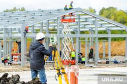 Алексей Текслер на строительстве областной инфекционной больницы. Челябинск , строители, стройка, инфекционная больница