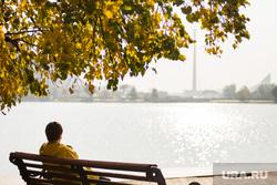 Осенний Екатеринбург, река исеть, отдых горожан, осень