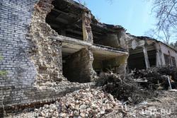 10 и 12 военные городки. Богандинка, разрушенное здание, разруха