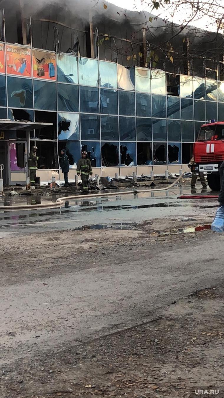 Пожар в ТЦ Монетка Богданович 6 октября 2020