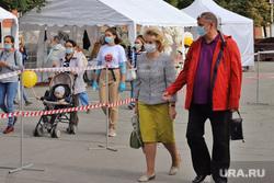 День города.  Курган , люди, медицинская маска, ограничительная лента, масочный режим, пандемия коронавируса, праздник день города