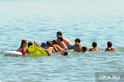 Муниципальный пляж «Первоозерный». Челябинск, лето, жара, дети, пляж, отдых, зной, озеро, пляжный сезон